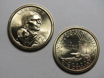 2003-P Sacagawea Native American Dollar - Uncirculated from US Mint Rolls