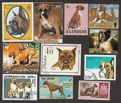 BOXER ** Int'l Dog Postage Stamp Collection ** Great Gift Idea*