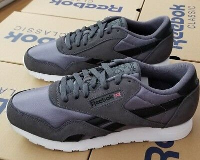 66273c166f5bf VINTAGE MEN S REEBOK Classic Nylon White Grey 7.5 US 7 UK 40.5 EU ...