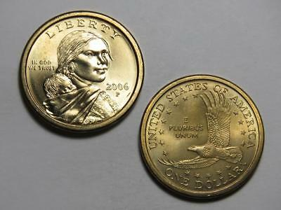 2006-P Sacagawea Native American Dollar - Uncirculated from US Mint Rolls