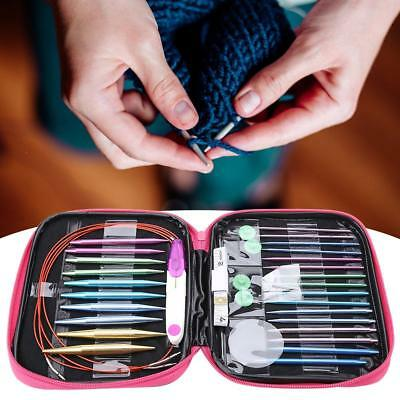13 Pairs/Set Interchangeable Aluminum Circular Knitting Needle Kits 2.75mm-10mm