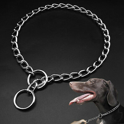 Choke Collar Stainless Steel Chain Obedience Training Dog Collar Necklace Sliver