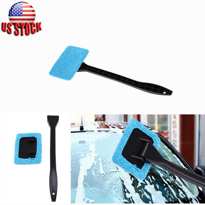 Microfiber Glass Wiper Windshield Clean Car Auto Cleaner Window Tool Brush Kit