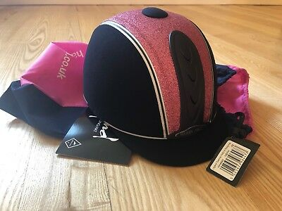 Harry Hall Legend Cosmos Horse Riding Hat 58cm Pink Navy