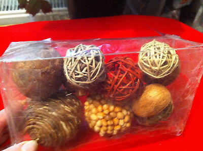 Autumn Christmas Table Display Round Balls Fruits Dried Decorations Home Crafts