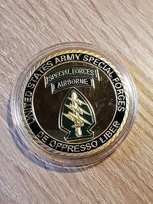 Massiver US Special Forces Airborne Challenge Coin...