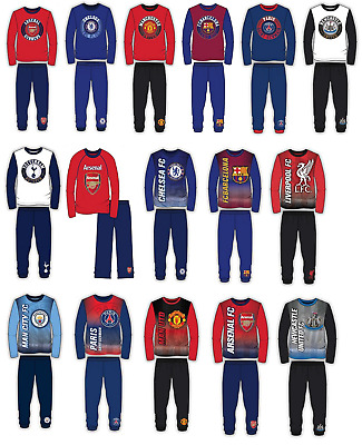 Kids 100% Official Football Pyjamas Girls Boys Childrens Pyjamas Age 4-12 Years
