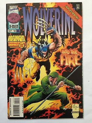 """Wolverine #105 (Sep 1996) (Marvel Comics) Part of """"Onslaught"""" Event"""