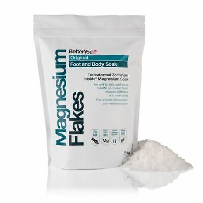 Better You Magnesium Flakes Foot & Body Soak 1kg 1 2 3 6 12 Packs