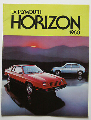 PLYMOUTH HORIZON 1980 dealer brochure - French - Canada - ST1002000918