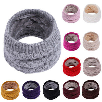Kids Baby Boys Girls Cotton Scarf Winter Warm Knitted Collar Neck Wrap Scarves