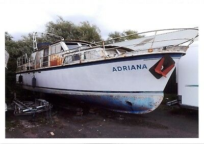 Project for restoration - Steel 40ft motor boat fitted with DAF 120hp engine