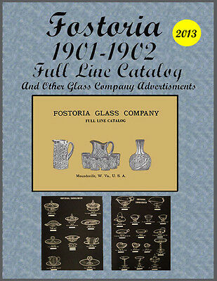 Fostoria E-Book 1901-1902 Catalog  and Other Glassware Advertisments