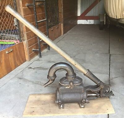 Vintage Antique F E Myers Water Pump Black Spigot Spout Hand Well Giant 3133