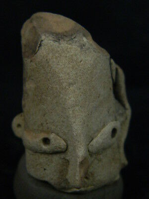 "Ancient Indus Valley Teracotta Head C.2500 Bc  """"r1011"""""