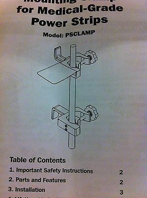 NIB TRIPPLITE PSCLAMP  pole-mount  clamp for Hospital Grade Pwr Strip, AC8640