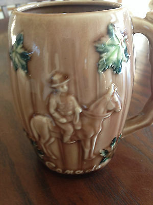 Vintage Canada Royal Canadian Mounted Police RCMP Hand Painted Ceramic Mug