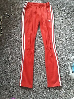 Adidas vintage tracksuit bottoms size 8 rare retro red white unusual old