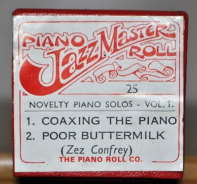 FULL-SCALE PIANOLA ROLL - Ragmaster R25 - Two Zez Confrey Novelty Piano Solos