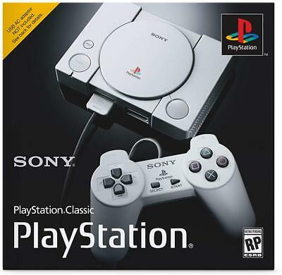 NEW Sony PlayStation 1 Classic Mini Console 20 Games 2 Controllers PS1