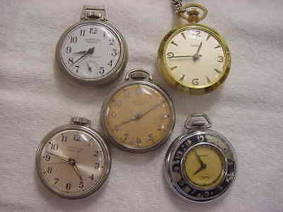 Lot of 8 Vintage large antique Art Deco WESTCLOX + pocket watch watches