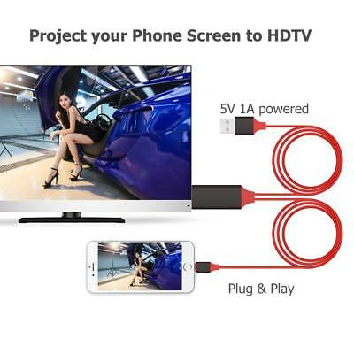 Screen To TV Cable HDMI 1080p IOS Adapter USB Charger Converter For iPhone iPad