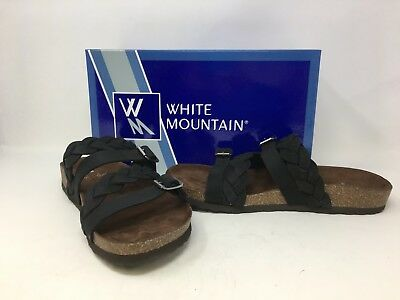 23a3ba226b6d NEW! WHITE MOUNTAIN Woman s Crawford Sandals Whiskey Size 6 159A t ...