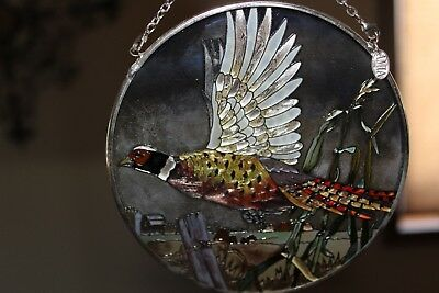 Ami Pheasant Stained Glass Hanger