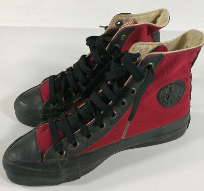 Converse All Star Scarpe Rosse Red Shoes Schuh Zapatos Vintage Made In Usa
