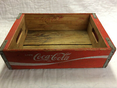 Coca-Cola Red Wood Crate - Good Condition Vintage/Antique - Chattanooga TN 1973