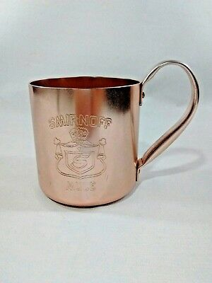 SMIRNOFF Moscow Mule Mug Cup - Collectible Copper-colored - Riveted Handle
