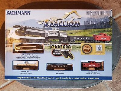 Bachmann The Stallion Complete N Scale Train Set With E-Z Track Norfolk Southern