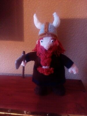 hand knitted viking doll