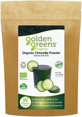 Golden Greens Organic Chlorella Powder 100g, BBE: Mar 19, 45% Sale, RRP: £8.99