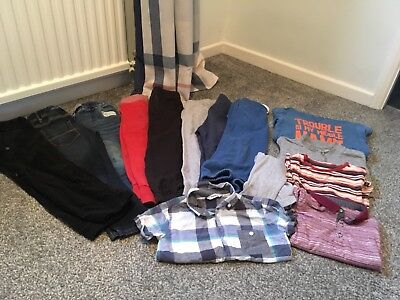 Boys Winter Clothes Bundle Age 3-4 Years Cargo Trousers Shirt 2x Tops Next M&S