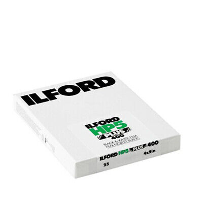 Ilford HP5 Plus 400 4X5in 1Pack of 25 Sheets B&W Large Format Film Fresh 06/2020