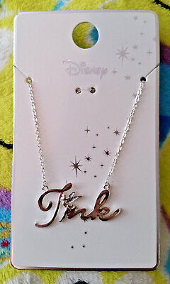 """Primark Disney Peter Pan - Tinker Bell """"Tink"""" Silvery Glitter Necklace - NEW"""
