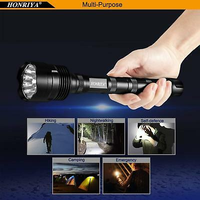 SUPER BRIGHT Led Flashlight HONRIYA 1500~12000 Lumens TOUGH TACTICAL 5-Features