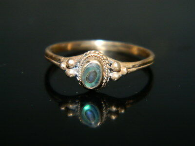 @@@Antiker alter Ring 18 Jh. Goldfarben Messing Seeopal  Gr.54 @@@