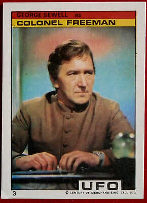 "UFO - Monty Gum (1970) - Card #03 - ""George Sewell as Colonel Freeman"""