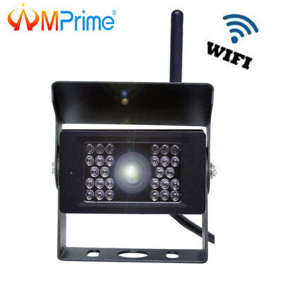 Wireless WiFi Bus Truck Rear View Backup Camera 28 IR LED for Android iPhone