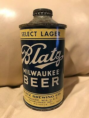 1930's Blatz Milwaukee Beer lo profile cone top