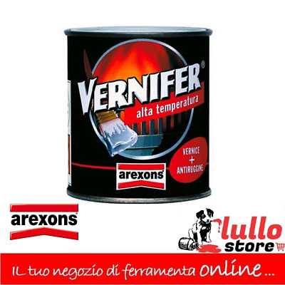 Vernice Smalto Gel 250ml alte temperature nero satinato Arexons Vernifer