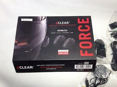 A UCLEAR HBC200 D dual pack Motorcycle bluetooth Helmet Intercom GPS music chat