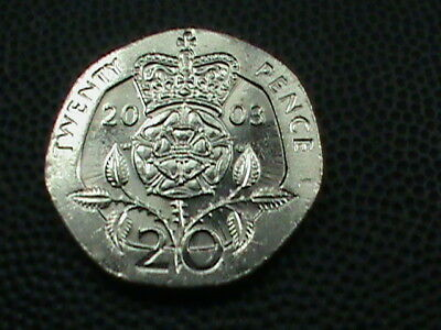 GREAT BRITAIN  20 Pence  2003  UNCIRCULATED   $ 2.99  maximum  shipping  in  USA