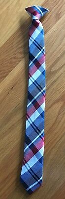 """NWOT Boys Youth Clip On Neck Tie • Black, Blue, Red & White • 15"""" Long"""