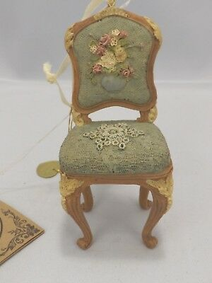 """Vintage 1999 The House of Louis Nicole Heirloom Chair Ornament New in Box 4"""""""