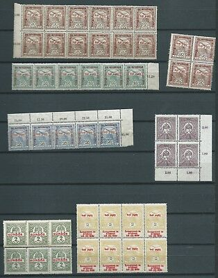 Hungary Nice Lot Early Blocks Mnh Fresh Looking!