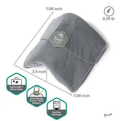 Trtl Pillow - Scientifically Proven Super Soft Neck Support Travel Pillow, Grey