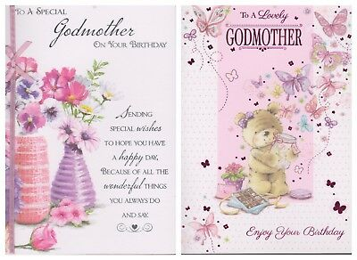 Godmother Birthday Card To A Special Lovely